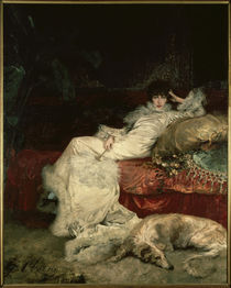 Sarah Bernhardt / Paint. by Clairin /1876 by AKG  Images