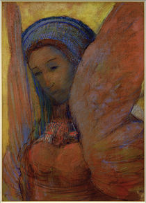 O. Redon, Die Lyra (Sphinx) by AKG  Images