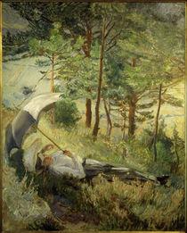 M. Slevogt, Sommermorgen (Frau mit Sonnenschirm) by AKG  Images