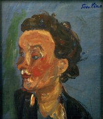 Ch. Soutine, Young Englishwoman in Blue / painting, c. 1937 by AKG  Images