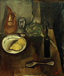 Ch. Soutine, Still life with artichoke / painting by AKG  Images