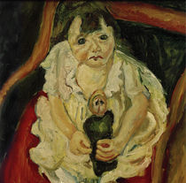 Ch. Soutine, The Little Girl with a Doll / painting 1919 by AKG  Images