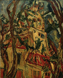 Ch. Soutine, The church tower of Saint-Piere in Céret by AKG  Images