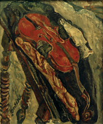 Ch. Soutine, Still life with Violin, Bread and Fish by AKG  Images