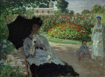 C.Monet, Camille with Jean and nanny by AKG  Images