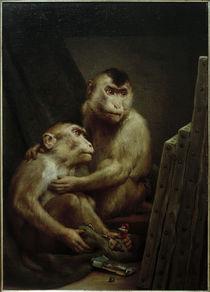 G.v.Max, Zwei Affen betrachten Gemälde von AKG  Images