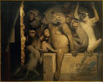 Gabriel von Max, Monkeys as art critics by AKG  Images