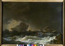 Ph. J.Loutherbourg / Seascape / 1766 by AKG  Images