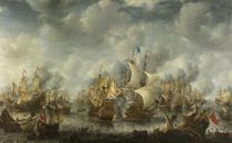 Seeschlacht bei Terheide / Gemälde von J.A.Beerstraten von AKG  Images