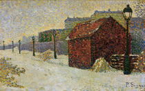 P.Signac, Montmartre in Snow / Paint./ 1887 by AKG  Images