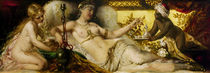 F.Lefler, Odalisque with the Indian hookah pipe / painting by AKG  Images