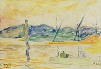 Saint-Tropez Harbour Entrance at Sunset  / P.Signac / Watercolour 1899 by AKG  Images