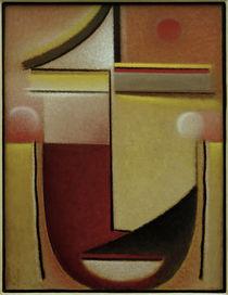 A. v. Jawlensky, Abstrakter Kopf: Rot-Weiß-Gold by AKG  Images