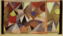 Paul Klee, Berglandschaft, AquarellGouache von AKG  Images