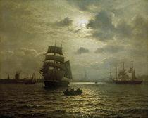 W.F.Xylander, Hafen von Kopenhagen by AKG  Images