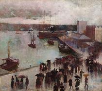 Sydney, Hafen, Departure of the Orient / Gemälde v. Ch. Conder by AKG  Images