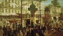 A.Gill, Le Boulevard Montmarte / Painting, 1877. by AKG  Images