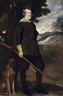 Philip IV as hunter / by Velázquez by AKG  Images