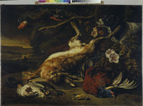 Hunting Still Life / J. Weenix / Painting 1697 by AKG  Images