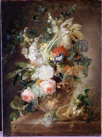 Jan van Huysum (Nachahmer), Blumenstrauss in einer Vase by AKG  Images