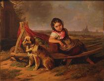 M. Ranftl, Mädchen mit Hund vor Wien von AKG  Images