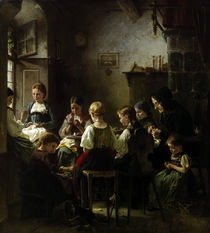 Vautier / Sewing School / Painting, 1859 by AKG  Images