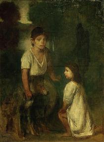 H. v. Marées, Zwei Kinder mit Hund von AKG  Images