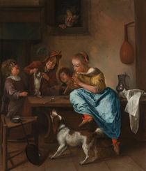 J.Steen, Kinder bringen einer Katze das Tanzen bei von AKG  Images