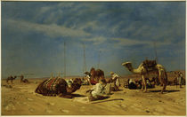 E.Bracht, Rast in Araba (Peträisches Arabien) von AKG  Images