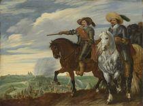 Friedrich Heinrich v. Oranien u. Ernst Casimir v. Nassau vor 's-Hertogenbosch / v. Hillegaert von AKG  Images