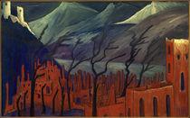 M. v. Werefkin, Rote Stadt / Gemälde, 1909 von AKG  Images