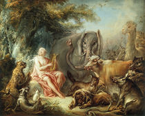 Boucher / Orpheus enchants the Animals by AKG  Images