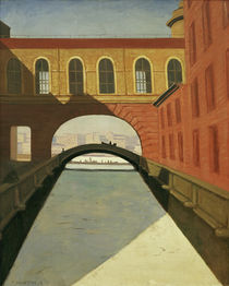 F.Vallotton, Zugefrorener Kanal by AKG  Images