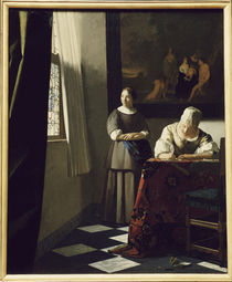 Vermeer / Woman writing a letter /c. 1670 by AKG  Images