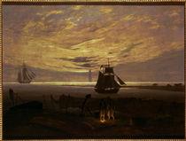 C.D.Friedrich, Abend am Ostseestrand1831 von AKG  Images