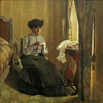 F.Vallotton, Junge Näherin am Fenster von AKG  Images