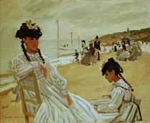 Monet / On the beach in Trouville / 1870 by AKG  Images