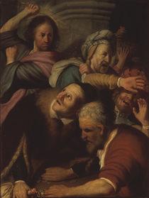 Rembrandt, Jesus treibt die Wechsler von AKG  Images