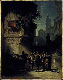 Spitzweg / Spanisches Staendchen/1855–56 von AKG  Images