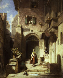 Carl Spitzweg, At the stork apothecary by AKG  Images