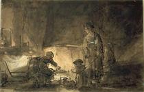 Rembrandt, Die Küche von AKG  Images