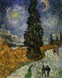 Van Gogh / Zypressenweg Sternenhimmel/1890 von AKG  Images