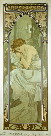 Mucha, Repos de la Nuit / 1899 von AKG  Images