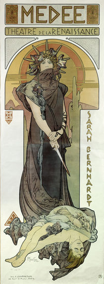 Sarah Bernhardt as Medea / A.Mucha by AKG  Images