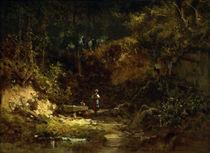 C.Spitzweg, Mädchen am Waldbrunnen von AKG  Images