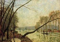 A.Sisley, Seine-Ufer im Herbst von AKG  Images