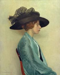 F.Vallotton, Junge Frau mit schwarzem Hut by AKG  Images