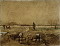 Van Gogh, Cemetery in the Rain / Draw. by AKG  Images