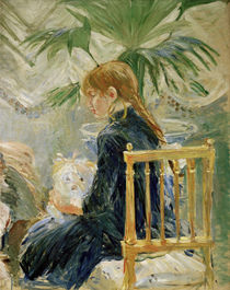 B.Morisot, Girl and dog (2nd fragment) by AKG  Images