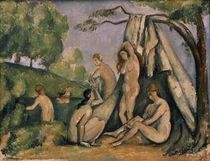 P.Cézanne, Badende vor einem Zelt von AKG  Images